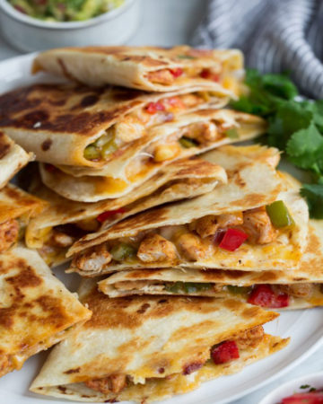 Chicken Quesadillas Fajita Style