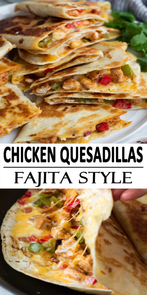 Chicken Quesadillas Fajita Style Recipe
