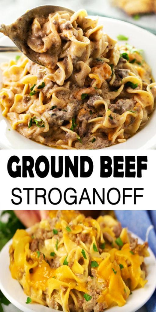 Ground Beef Stroganoff Recipe
