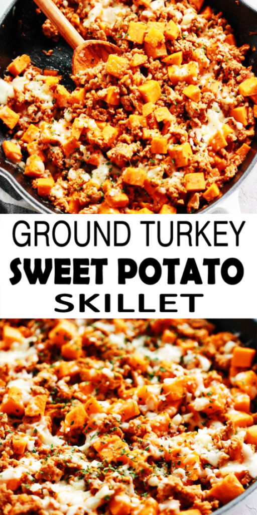 Ground Turkey Sweet Potato Skillet Recipe
