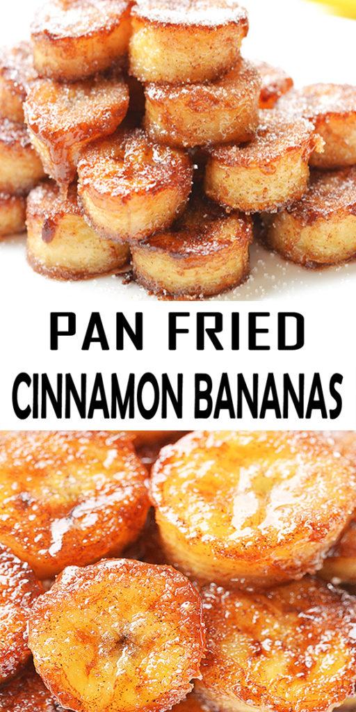 Pan Fried Cinnamon Bananas Recipe