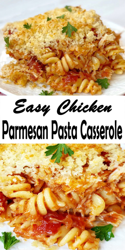 Chicken Parmesan and Pasta Casserole