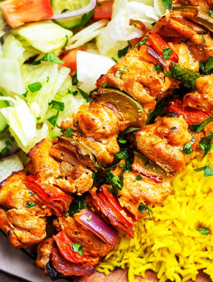 Marinated Chicken Kebabs