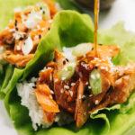 Teriyaki Salmon Lettuce Wraps