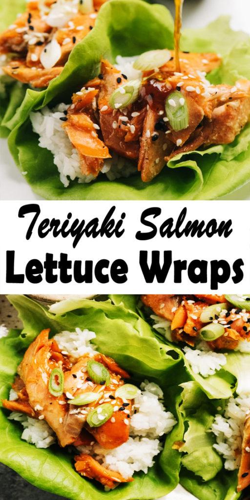 Teriyaki Salmon Lettuce Wraps Recipe