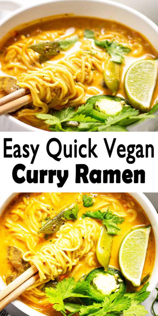 Vegan Curry Ramen Noodles Recipe
