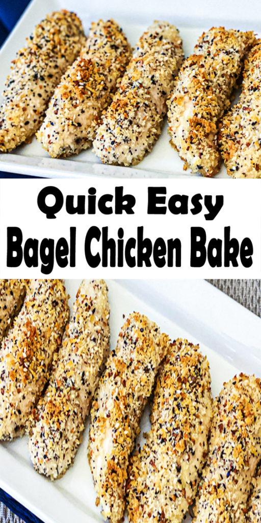 Easy Bagel Chicken Bake